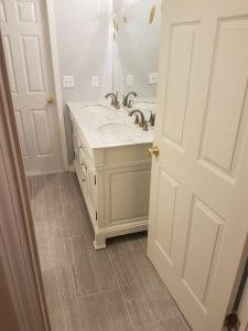 new bathroom doorway