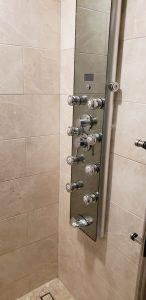 shower temperature handles